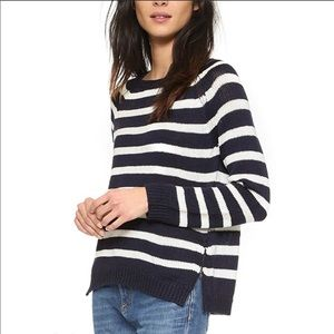 cupcakes and cashmere navy white striped sweater